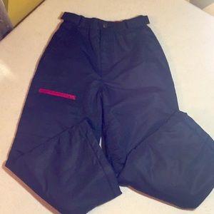 Boys Swiss Tech Snow Pants Size Sm (6-7) Black/Red